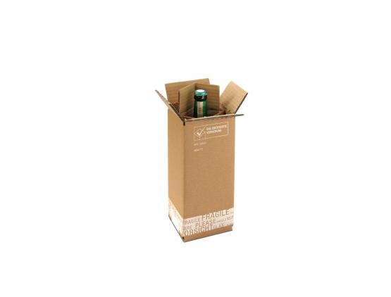 Versandkarton für 1 Flasche - offen