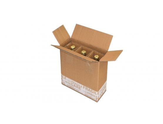 Bierversandverpackung für 3 Flaschen 0,5L