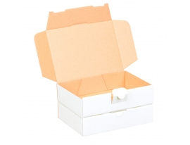 Maxibriefkarton weiß 180x130x50mm